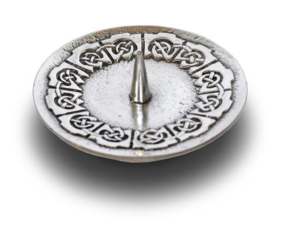 Candle holder cm 7.5 (Pewter / Britannia Metal) - collection: Celtic. Cosi Tabellini.