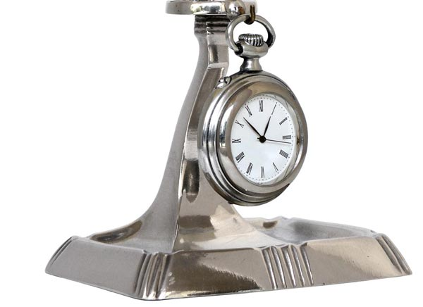 Pocket watch stand cm h 9 (Pewter / Britannia Metal) - collection: Combo. Cosi Tabellini.