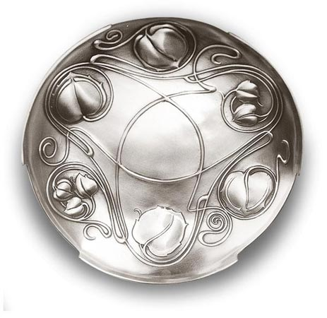 Round bowl - celtic cm Ø 26 (Pewter / Britannia Metal) - collection: Celtic. Cosi Tabellini.