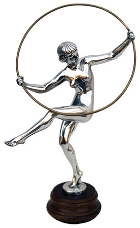 Statuette - gymnast with hoop cm xxx (Pewter / Britannia Metal) - collection: Donna. Cosi Tabellini.