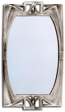 Wall mirror - Art Deco - 84/15 cm 38 x 22 (Pewter / Britannia Metal, Glass) - collection: Secession. Cosi Tabellini.
