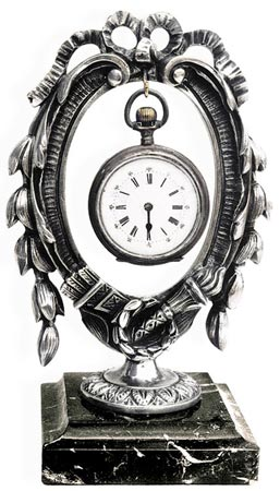 Pocket watch stand cm 17 (Pewter / Britannia Metal) - collection: Corona. Cosi Tabellini.