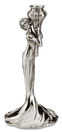 Candlestick - woman 169a/4 cm h 30,5 (Pewter / Britannia Metal) - collection: Donna. Cosi Tabellini.