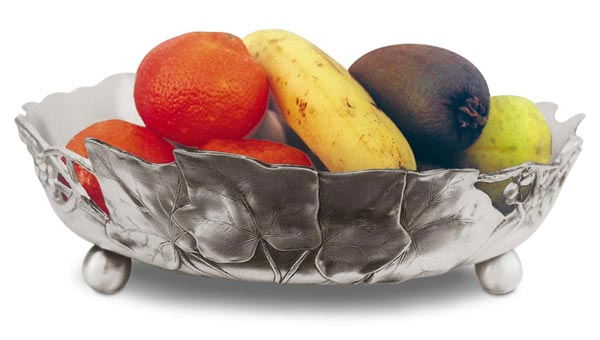 Round bowl cm Ø 29,5 (Pewter / Britannia Metal) - collection: Frutta. Cosi Tabellini.