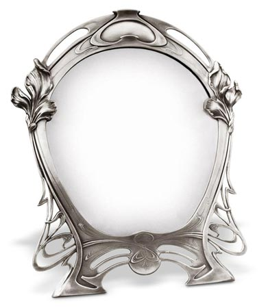 Vanity mirror - lily cm 36,5x h 43,5 (Pewter / Britannia Metal) - collection: Giglio. Cosi Tabellini.