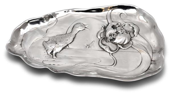 Jewellery holder tray - duckling cm 26x15 (Pewter / Britannia Metal) - collection: Anatra. Cosi Tabellini.