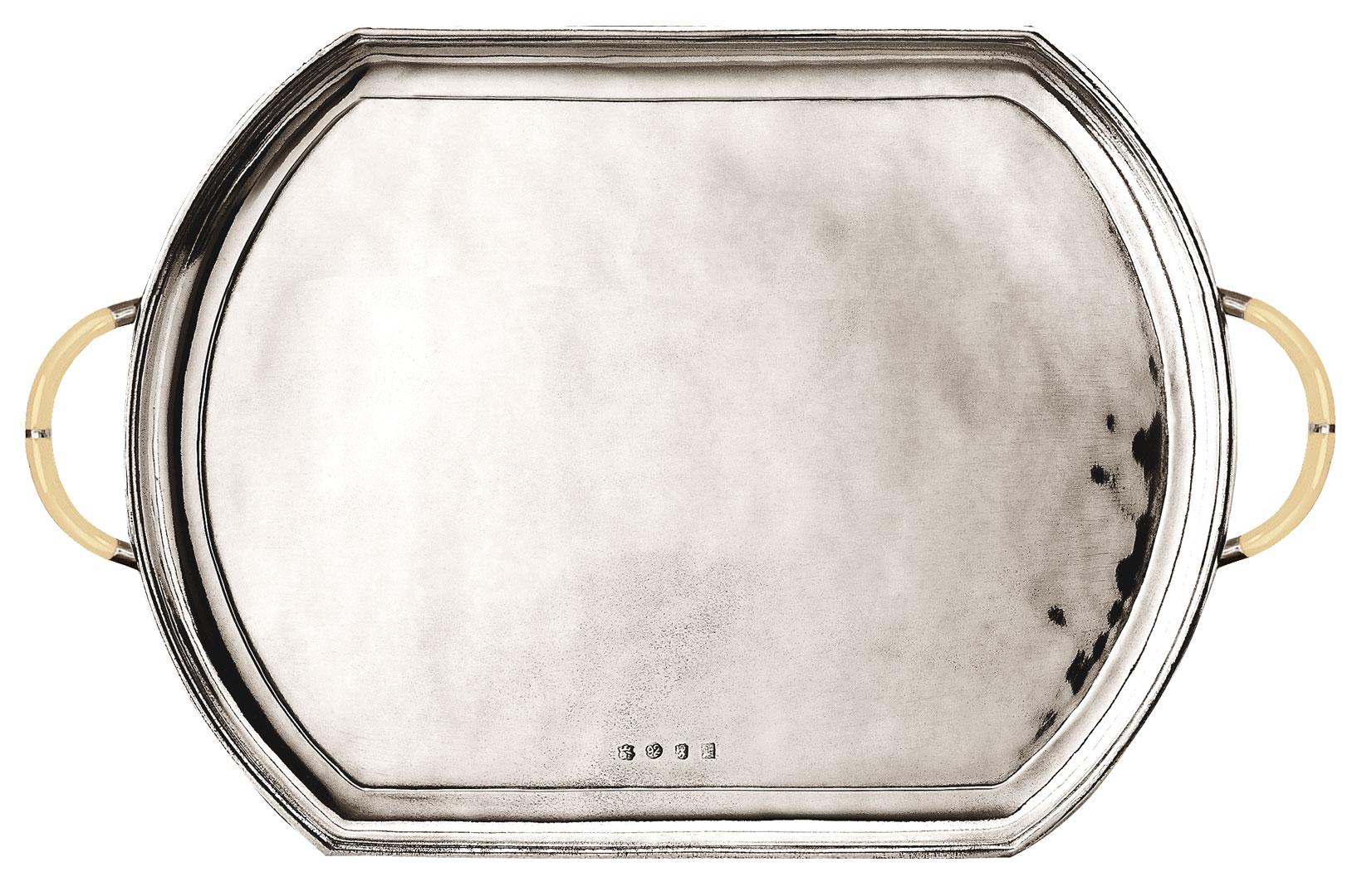 tablett mit henkel 39 vikinghi 39 cm 43 5x29 zinn cod. Black Bedroom Furniture Sets. Home Design Ideas