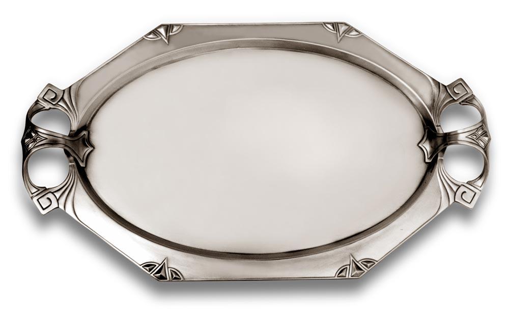 tablett mit henkel 545 grau zinn britannia metal cm. Black Bedroom Furniture Sets. Home Design Ideas