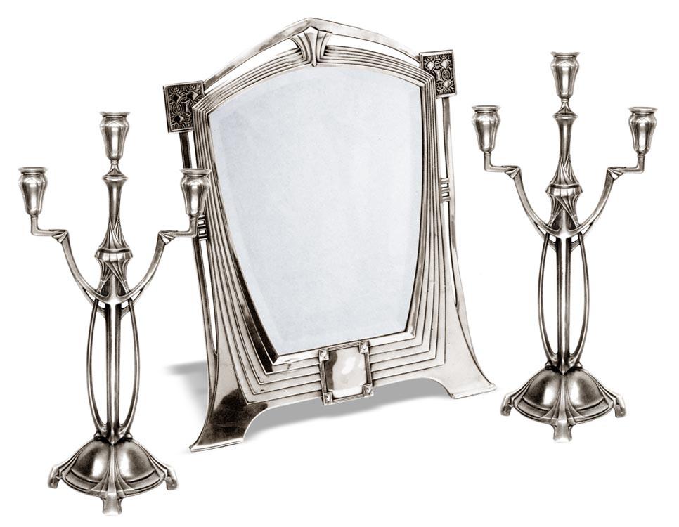 Specchio Stile Liberty 120 Grigio Metallo Peltro