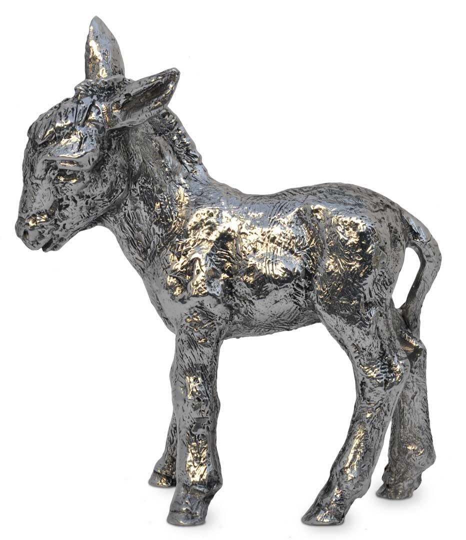 Statue - donkey, grey, Pewter / Britannia Metal, cm 12,5x15 by Cosi ...