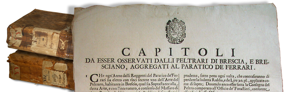 Pewterers Craft guilds in Brescia - 1659
