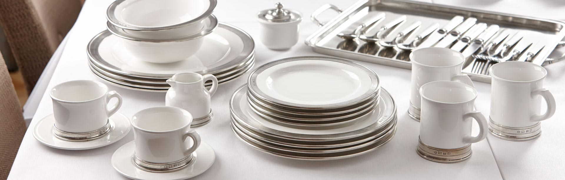 Tableware made in Italy. Tableware & Tableware: Pewter | Cosi Tabellini