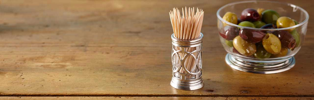 toothpick and cocktail stick holders made in Italy